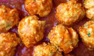 Low Carb Keto Friendly Buffalo Chicken Meatballs