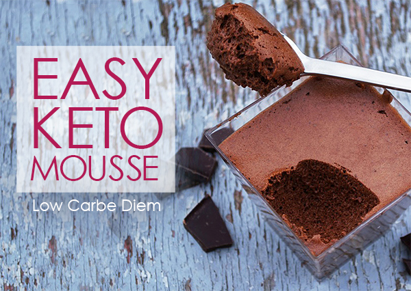 Low Carb Easy Keto Chocolate Mousse