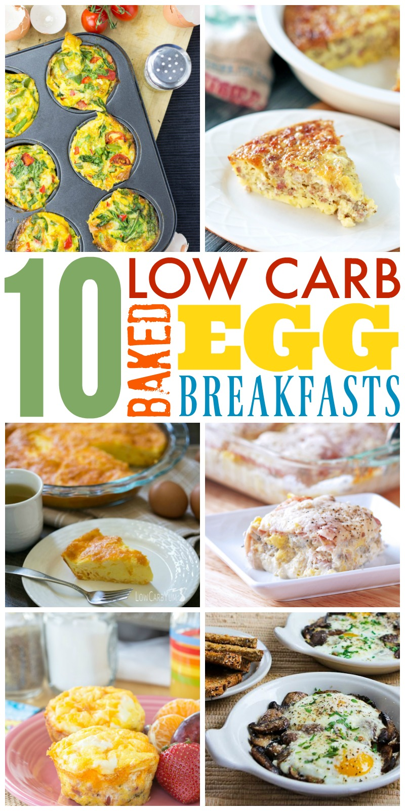low carb breakfast with baked eggs