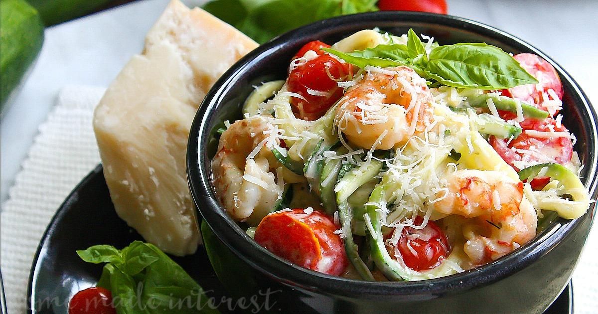Low Carb Creamy Shrimp Alfredo Recipe